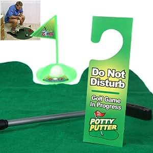 Funny Toilet Bathroom Mini Golf Mat balls Set Potty Putter Putting Game Novelty