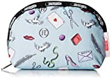 LeSportsac Medium Dome Cosmetic Case, Love Letters Blue, One Size