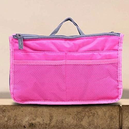 バッグインバッグ Meikira ミニ バッグ メイクバッグ 整理 仕切り 多機能 大容量 収納バッグ インナーバッグ 化粧品収納ポーチ 軽量 旅行 通勤 便利グッズ