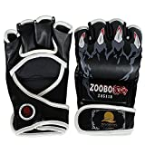 ZOOBOO-Half-finger-Boxing-Gloves-with-Velcro-Wrist-Band-for-MMA-Muay-Thai-Training-Fit-All-Sizes-Hand