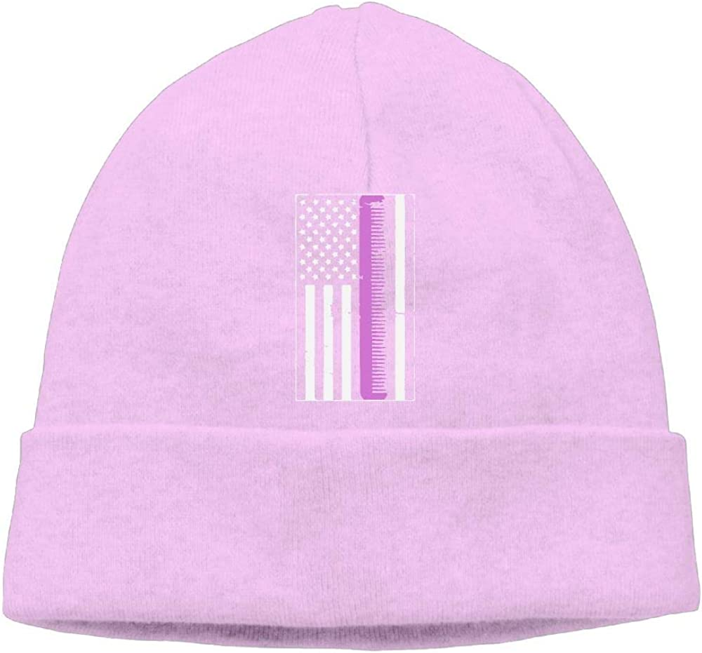 COLLJL8 Men//Women Retro Distressed Hair Stylist American Flag Outdoor Fashion Beanies Hat Soft Winter Skull Caps