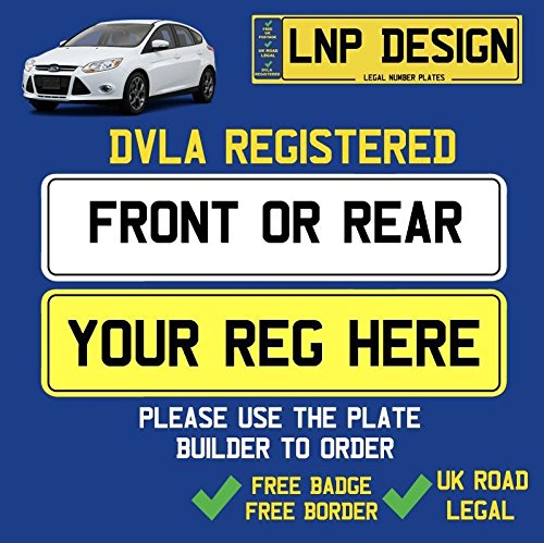 FREE BADGE AND BORDER DOCUMENTS REQUIRED FRONT OR REAR NUMBER PLATES UK LEGAL