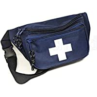 AsaTechmed First Aid Waist Pack - Baywatch Style Fanny Pack - Compact for Emergency at Home, Car, Outdoors, Hiking, Playground, Survival, Camping, Workplace
