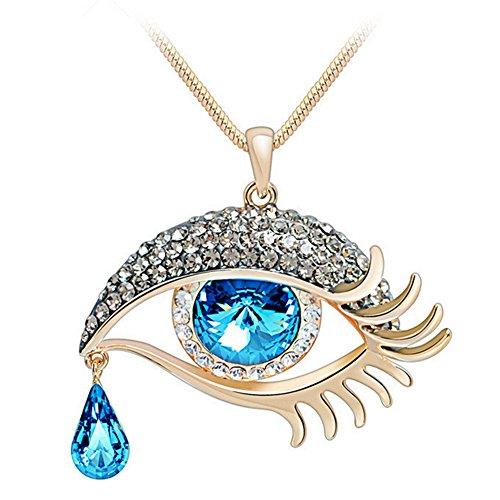 - AGOKO Hey♥Lady Fashion Women Sweater Chain Like Eyes Bite a Tear of Angel(Blue)