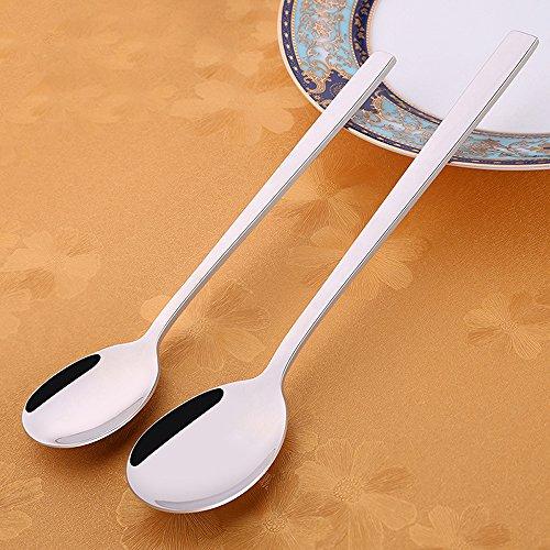 SSGP Teardrop Flatware Serving Spoon Set,Dessert Soup Spoon Flatware, Food Grade Stainless Steel Spoon Sets, Dinner Spoons 2-Piece Set