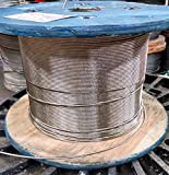 """3/16"""" Stainless Steel Cable Railing Wire Rope"""