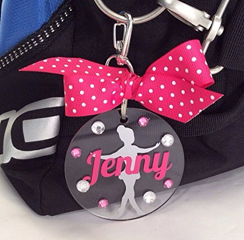 Young Dancer Bag Tag Personalized with Your Name and Colors