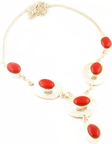 collier femme corail