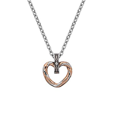 Hot Diamonds Women 925 Sterling Silver Diamond Pendant Necklace of Length 45cm DP690 UulYnT466k
