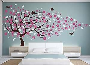 Vinilo decorativo para pared dise o de cerezo en flor for Stickers habitacion nina