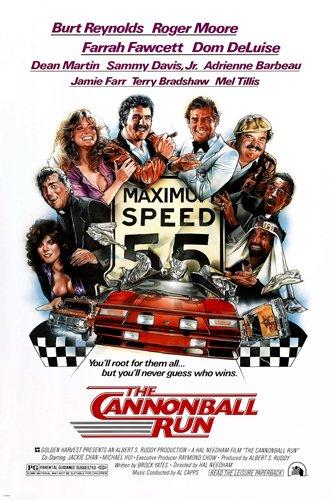 THE CANNONBALL RUN movie poster BURT REYNOLDS FARRAH FAWCETT car chase 24X36 (reproduction, not an ()