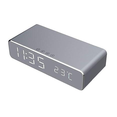 Cikuso - Despertador LED eléctrico con Cargador inalámbrico ...