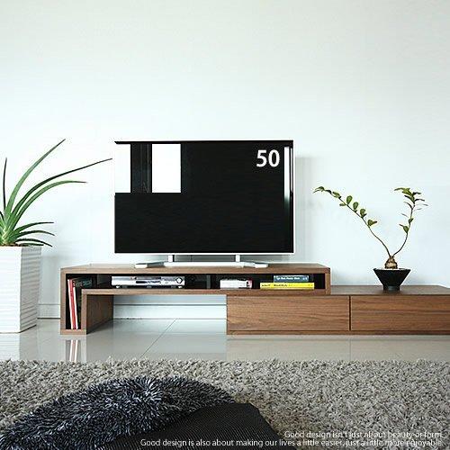 GENERAL SHAPE(ジェネラル シェイプ) テレビ台 伸縮 伸長 コーナー 大型 国産 テレビボード ローボード ウォールナット 日本製 40 50 60 インチ対応 完成品 [GS-155TV Board/WN] B0060G8GFY