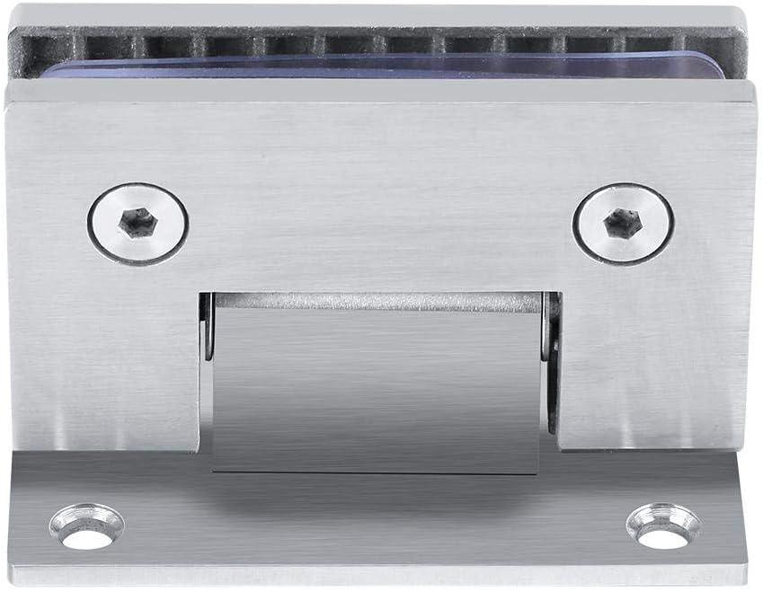 Bisagra pinza de puerta cristal 90º Soporte de pared sin marco Clip para puerta de ducha de cristal 8–10mm con tornillo Accesorio