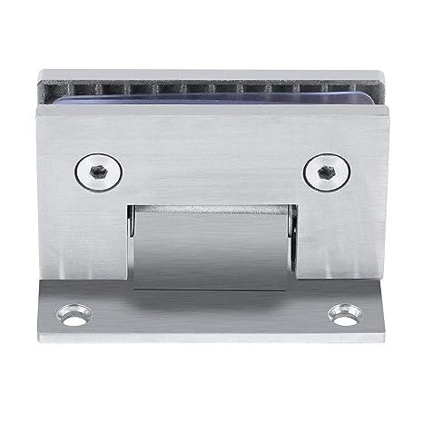 Bisagra pinza de puerta cristal 90º Soporte de pared sin marco Clip para puerta de ducha