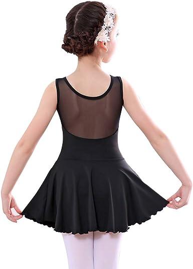 UK Girls Children Ballet Dance Dress Tutu Long Skirt Leotard Gymnastics Costume