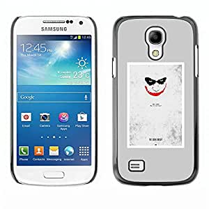 Paccase / SLIM PC / Aliminium Casa Carcasa Funda Case Cover - Scary Face Creepy Smile Poster - Samsung Galaxy S4 Mini i9190 MINI VERSION!