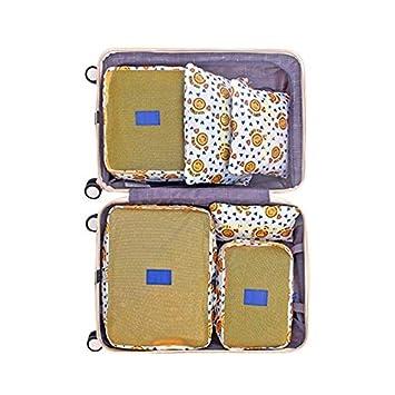 73254446117d Amazon.com : Saasiiyo 6pcs Korean Travel Storage Bags Portable High ...