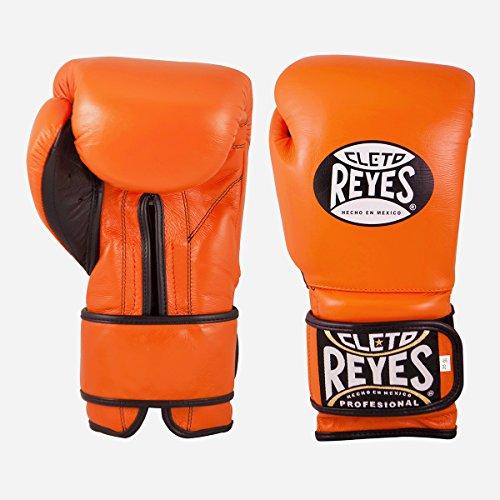 Cleto Reyes Extra Padding Boxing Training Gloves (Tiger Orange (Regular Padding), 16 Ounce)