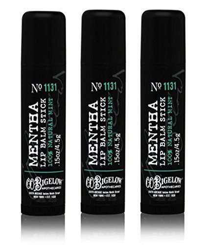 Lot of 3 Bath & Body Works C.O. Bigelow 1131 Mentha Lip Balm Stick 0.15 oz / 4.5 g (Bigelow Lip Balm)