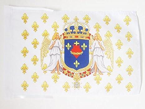 AZ FLAG Bandera del Reino DE Francia Angel CORAZÓN Sagrado 45x30cm - BANDERINA ROYALISTA - Jesus 30 x 45 cm cordeles: Amazon.es: Jardín
