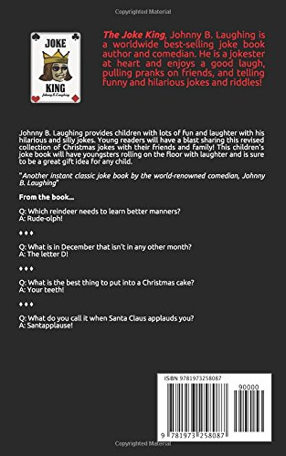christmas jokes funny christmas jokes and riddles for kids johnny b laughing 9781973258087 amazoncom books