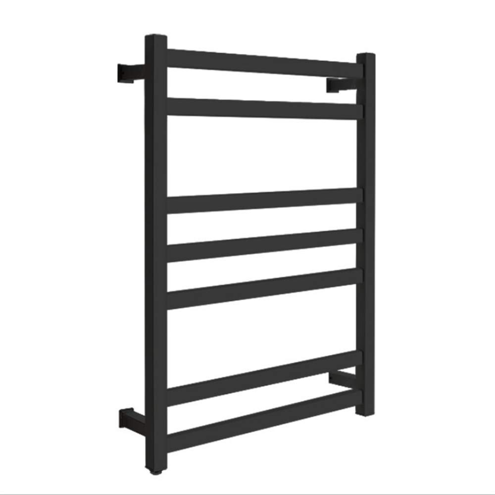 HDLWIS Electric Towel Warmer, Wall Mounted Towel Warmer, Low Energy Consumption Spray Stainless Steel Electric Towel Rack, Free Extra Beach Towel,Black by HDLWIS