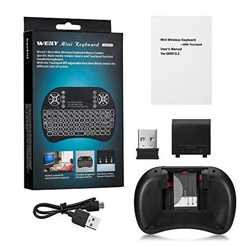 Backlit Mini Keyboard Touchpad Mouse AMGUR Mini Wireless