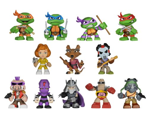 Ninja Turtles Figures (Funko 4445 Mystery Minis Teenage Mutant Ninja Turtles Blind Box Vinyl Figure)