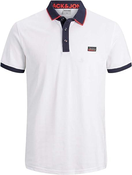 Jack & Jones Jcocharming Polo SS Noos Camisa, Blanco, L para Hombre: Amazon.es: Ropa y accesorios