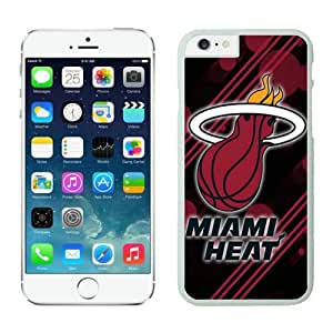 iphone 6 cover,Case for iPhone 6 (4.7 Inch)-NBA-Miami heat iPhone 6 Cases 12 White62821_59011