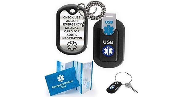 Amazon.com: Medicamento Alerta Informador LITE USB Dog Tag ...