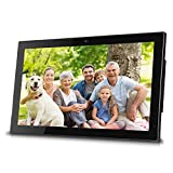 Sungale 14-inch WiFi Cloud Digital Photo Frame w/ Front Camera for Video Talk, Remote Control, 10GB Free Cloud Storage, 1366x768px LED Screen (Black)