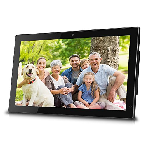 Sungale 14-inch WiFi Cloud Digital Photo Frame w/ Front Camera for Video Talk, Remote Control, 10GB Free Cloud Storage, 1366x768px LED Screen (Black) by Sungale