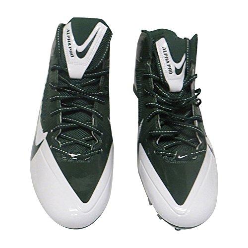 Nike_ Herren Alpha Pro TD Fußballschuh Grün Weiß