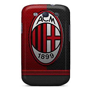Anti-Scratch Cell-phone Hard Cover For Samsung Galaxy S3 With Custom Beautiful Ac Milan Series MarcClements