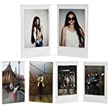 CAIUL Compatible V Model Clear Acrylic Photo Frame for Fujifilm Instax Mini 8 8+ 9 70 7s 90 25 26 50s, Instax SP-2, Polaroid PIC-300 Z2300 Film, 3 pcs