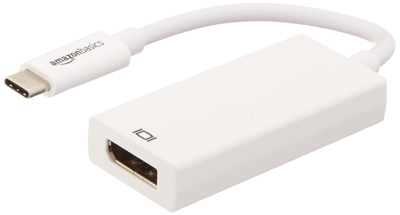 AmazonBasics USB 3.1 Type-C to DisplayPort Display Adapter - White by AmazonBasics