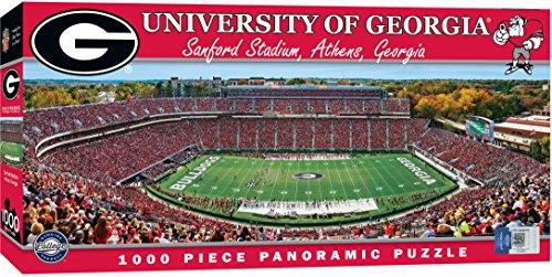 Georgia Stadium Sanford Bulldogs - MasterPieces Collegiate Georgia Bulldogs 1000 Piece Stadium Panoramic Jigsaw Puzzle