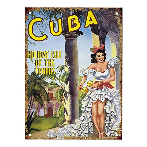 FDerks Cuba Retro Vintage Custom Metal Tin Sign Home House Coffee Beer Drink Bar 12 x 16 Inches]()