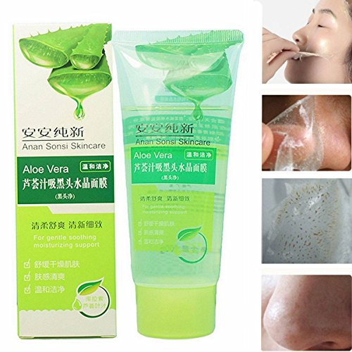LuckyFine 100g Aloe Vera Black Head Acne Cleaner Deep Clean Purifying Peel (Aloe Vera Face Mask)