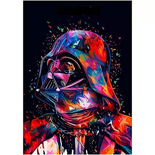 Star Wars 7 The Force Awakens Wall Art Pictures Diamond Painting Full Round Drill 5D DIY Diamond Painting Embroidery Cross Stitch Rhinestone Arts Craft Mosaic Home Decoration (12X16IN/30X40CM),Father