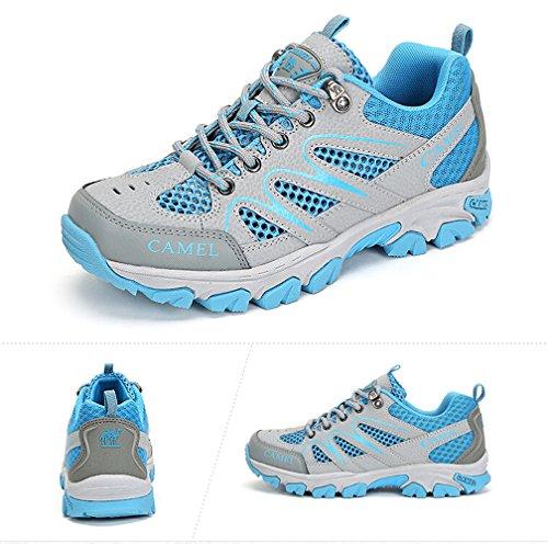 Camel Zapatos Para Mujer Con Cordones Para Caminar Al Aire Libre Color Azul Tamaño 39 M Ue