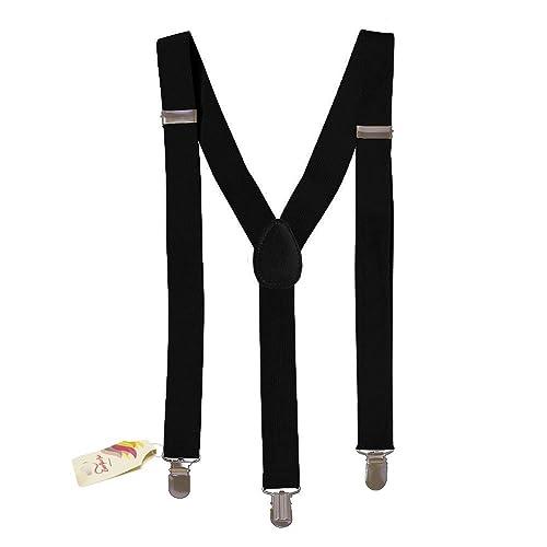 Suspenders - Skinny Suspenders - Adjustable Suspenders w/ Braces - Y-Back Elastic by CoverYourHair