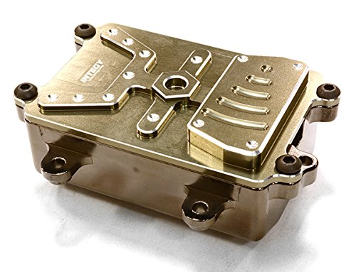 Integy RC Model Hop-ups C26565GUN Realistic Metal Receiver Box for Axial 1/10 SCX-10 Scale Crawler (Metal Gearbox Receiver)