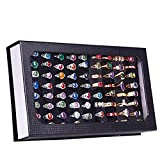 Hot Sale! High-grade 72 Slot Ring Box Velvet Jewelry Ring Display Case Box Jewelry Storage for Earrings, Bracelets, Necklaces & Rings (Black)