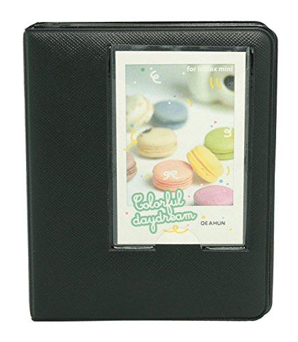 CLOVER Candy Color Fuji Instax Mini Book Album for Instax Mini7s 8 9 25 50s Film--- BLACK
