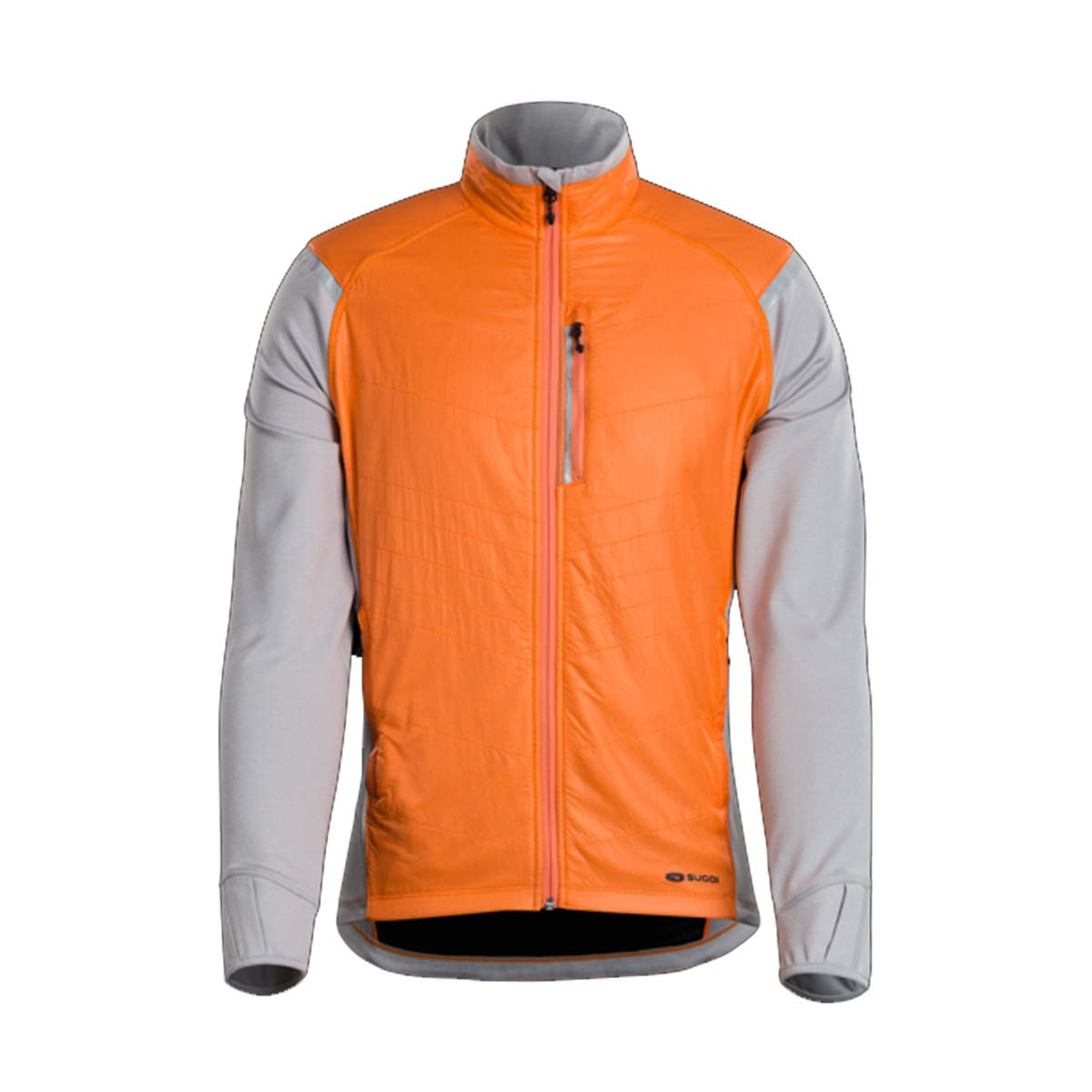 SUGOi 2018 メンズ アルファハイブリッド 自転車トレーニングジャケット - U740000M B07KBF6XRZ  ネクタリン Large