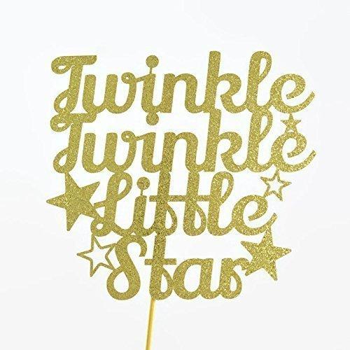 twinkle-twinkle-little-star-gold-glitter-paper-cake-topper