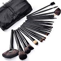 Brochas Maquillaje 24 Piezas Set Profesional color Negras Chicaspekes